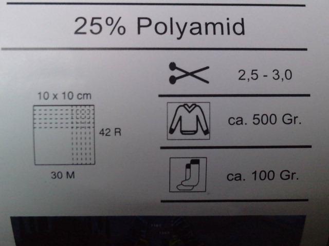 Nombre de rangs et nombres de mailles nécessaires à la réalisation d'un carré de 10 cm de côté