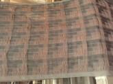 écharpe tissée prête à être feutrée