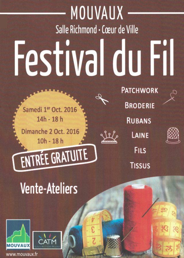 festival du fil à Mouvaux Octobre 2016
