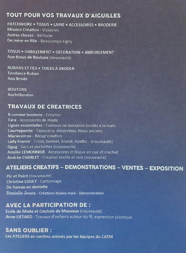 Festival du fil mouvaux 2017-details