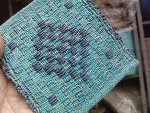 tissage cotonlin et fil de papier