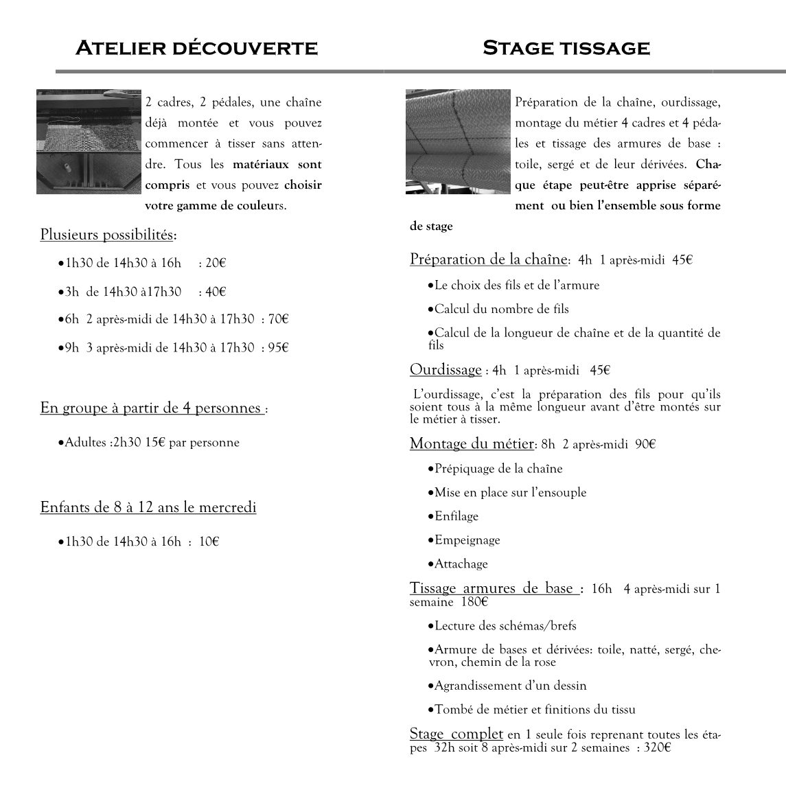 brochure stage tissag