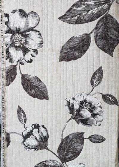 coupon de tissu noir et blanc