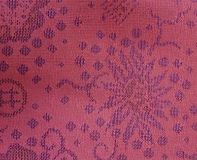 coupon de tissus fond rouge