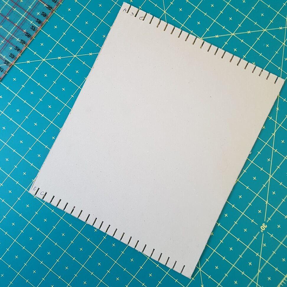 Métier à tisser simple en carton